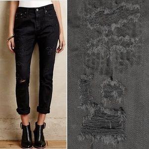 AG Devon True Boy Fit Distressed Black Jeans